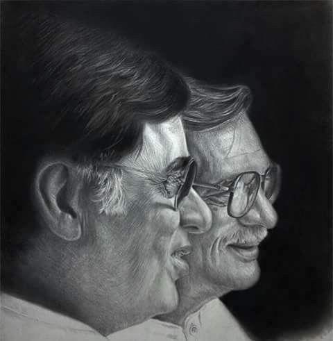 Two greats - Jagjit Singh & Gulzar