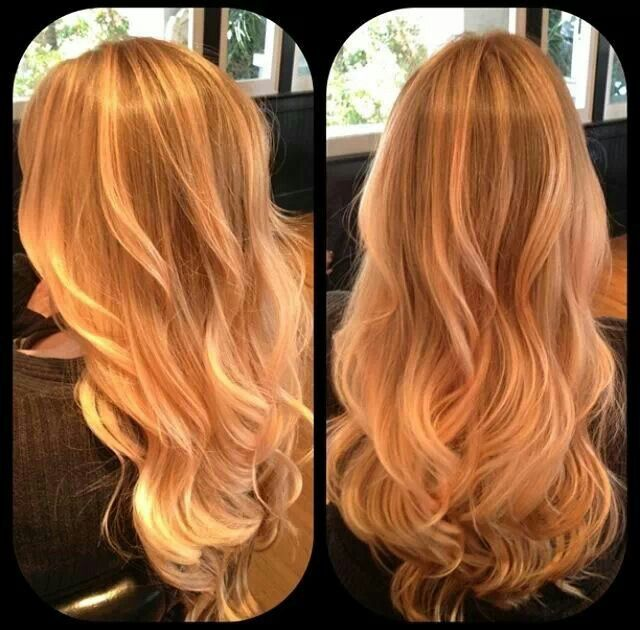 Rose Gold Ombre. Now I'm ready to have this baby! Thank you Kymmie! Pravana coral pastel hair color.