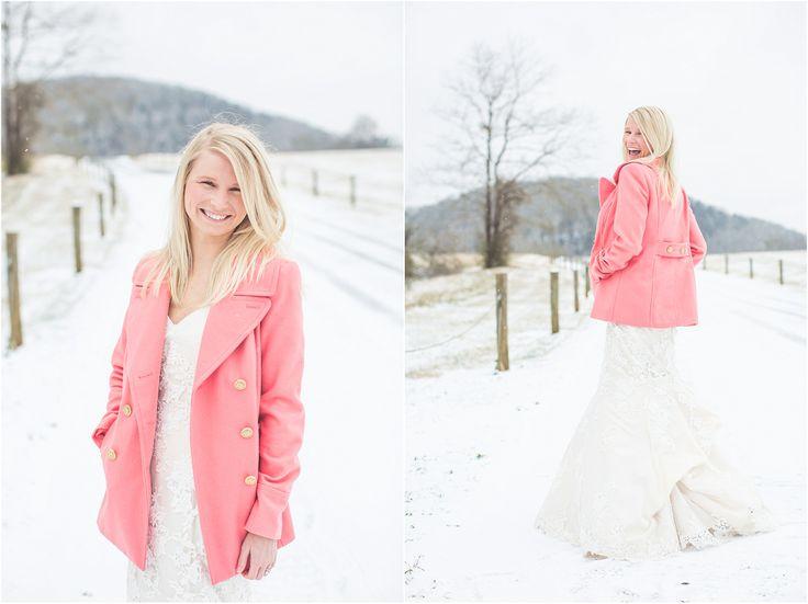 snow bride photos bride in snow knoxville wedding photographer wedding photographers in knoxville