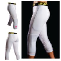 "Muchera Sliding Pants, the newest innovation in baseball and softball sliding gear! This All-in-One Slider, which is ""patent pending"", is designed to protect your hips, thighs, knees, and shins from abrasions when sliding or diving.  Sliding pants are a compression fit undergarment made of moistu..."