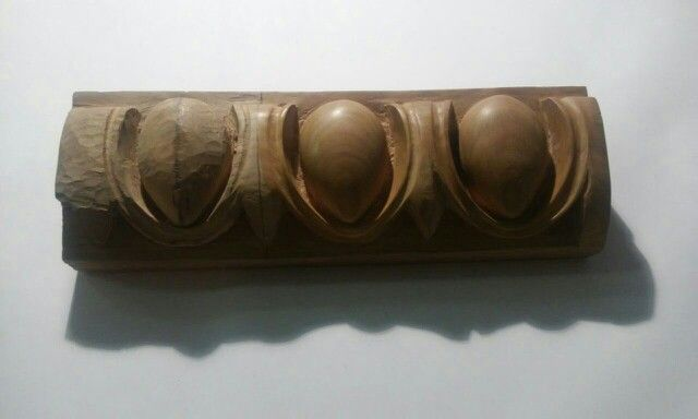 My first work (cherry wood) in exposition. Intentionally not finished