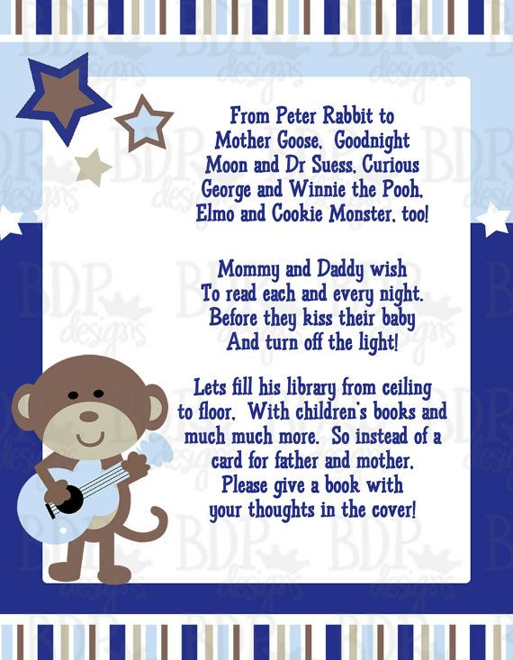 66 best baby shower theme images on pinterest baby shower themes rock star monkey book poem monkey babyboy showerrock filmwisefo Image collections