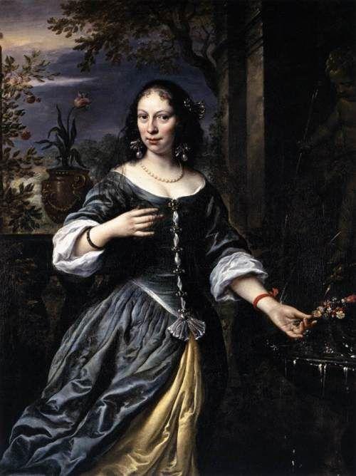 FLINCK, Govert Teunisz.  (b. 1615, Kleve, d. 1660, Amsterdam)    Portrait of Margaretha Tulp1655Oil on canvas, 138 x 104cmStaatliche Museen, Kassel