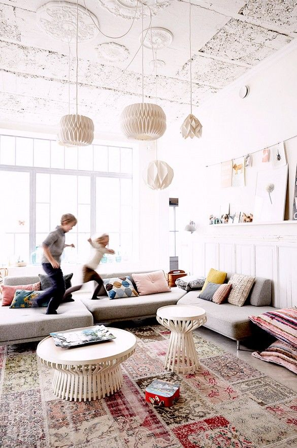 photo & family room of French photographer Pascal François  for MilK Decoration