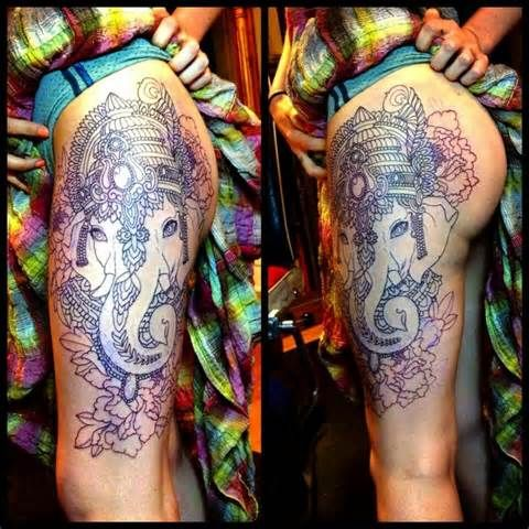 indian elephant tattoo - Yahoo Image Search Results