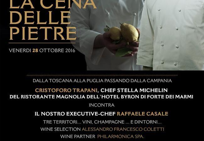 la Cena delle Pietre - 28 ottobre 2016 - News ed Eventi / Le Lampare al Fortino, ristorante Trani, ristoranti a Trani in Puglia, sale ricevimenti a Trani in Puglia