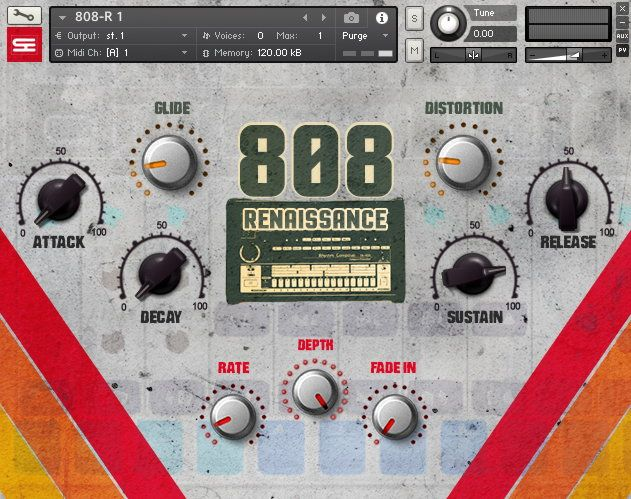 808 Renaissance Kontakt 808 Drums Library | Music Loops