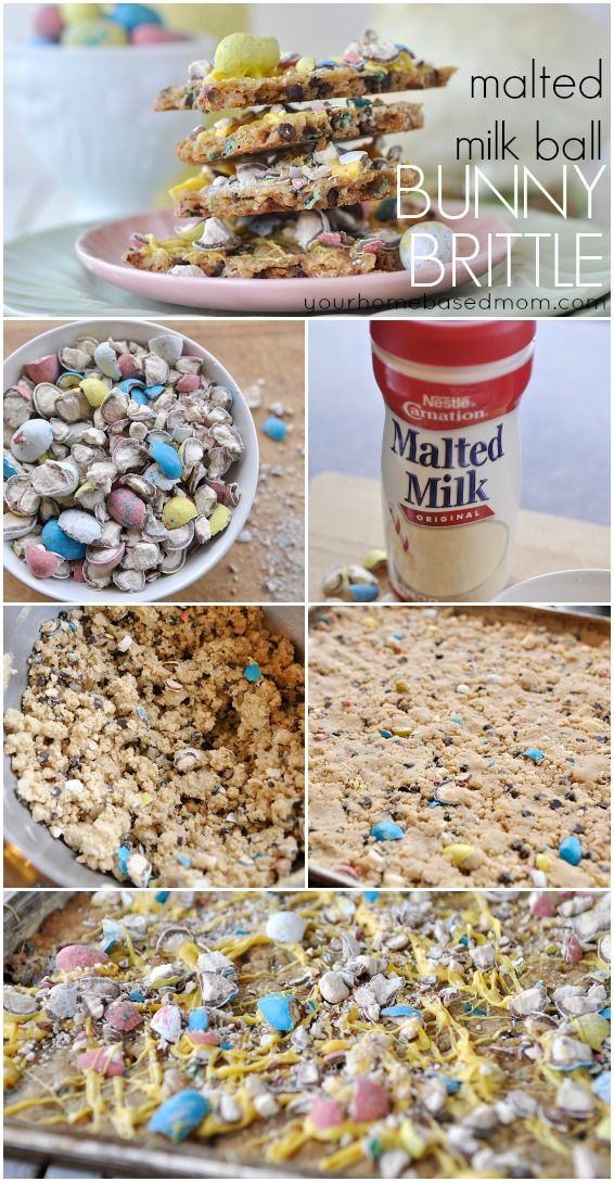 ... milk powder, mini chocolate chips and crushed up malted milk ball eggs