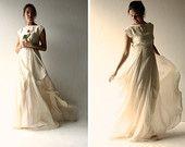 Wedding dress, Boho wedding dress, Hippie wedding dress, Edgy wedding dress, Alternative wedding dress, Ivory wedding dress, Modern wedding