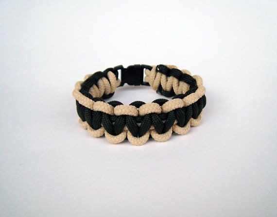 Paracord bracelet sand olive green men outdoor by stamparacord