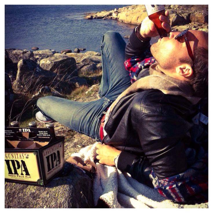 Love Lagunitas IPA by the Sea  #lagunitasipa by #tactiqteam #höst #västkusthöst