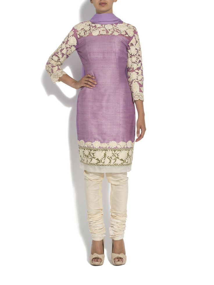 Aashni + Co - Raw manish malhotra silk kurta with pearls
