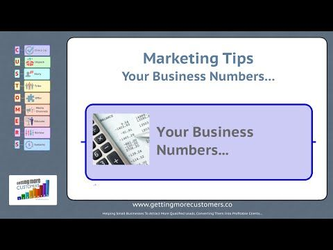 Marketing Tips  Your Business Numbers #1
