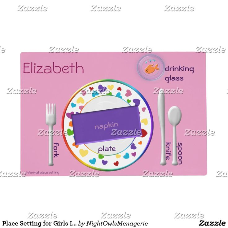 Place Setting for Girls Informal and Semi Formal Placemat