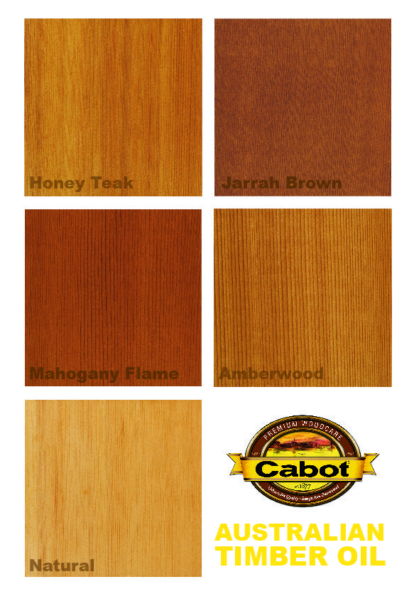 Cabot Stain's Australian Timber Oil, famous for bringing both color depth and water repellency. A beautiful hardwood stain that is a Cabot consumer favorite.