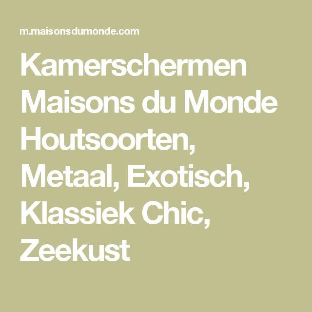 Kamerschermen Maisons du Monde Houtsoorten, Metaal, Exotisch, Klassiek Chic, Zeekust