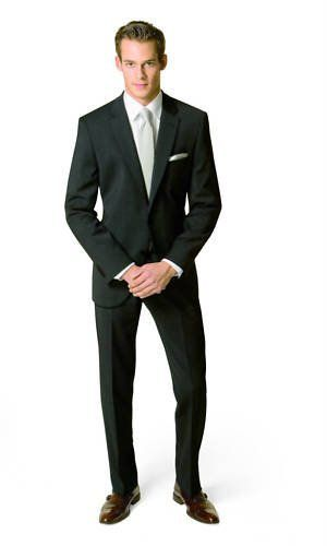 Herren Anzug schwarz Lanificio Tessile D`Oro (44-64, 23-32, 86-122)