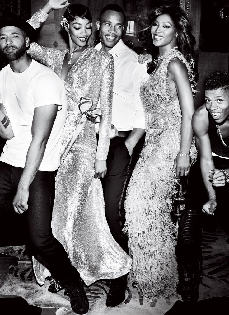 Jussie Smollett, Bryshere Gray, Trai Byers, Naomi Campbell and Jourdan Dunn. Empire/Vogue