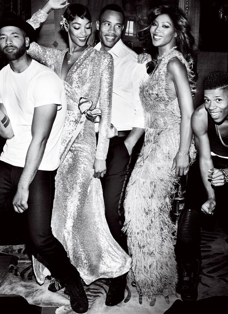 Jussie Smollett, Bryshere Gray, Trai Byers, Naomi Campbell and Jourdan Dunn. Empire/Vogue