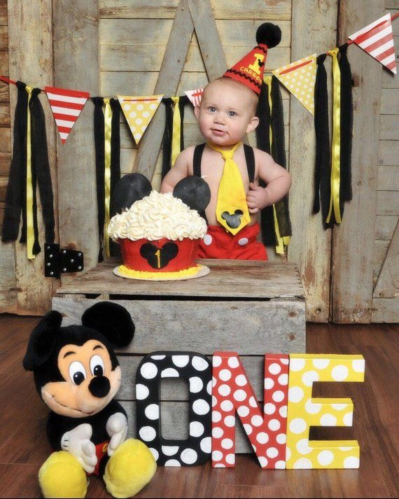 Mickey Mouse Cake Smash Outfit