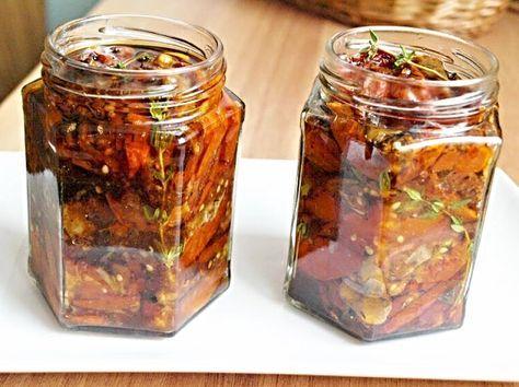 Pečená (sušená) rajčata ve vlastní šťávě