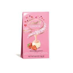 Lindt Lindor Valentine's Strawberries and Cream White Chocolate Truffles - .8oz