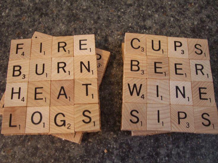 Scrabble Tile Coasters from Fol-de-rol & Frippery on Storenvy