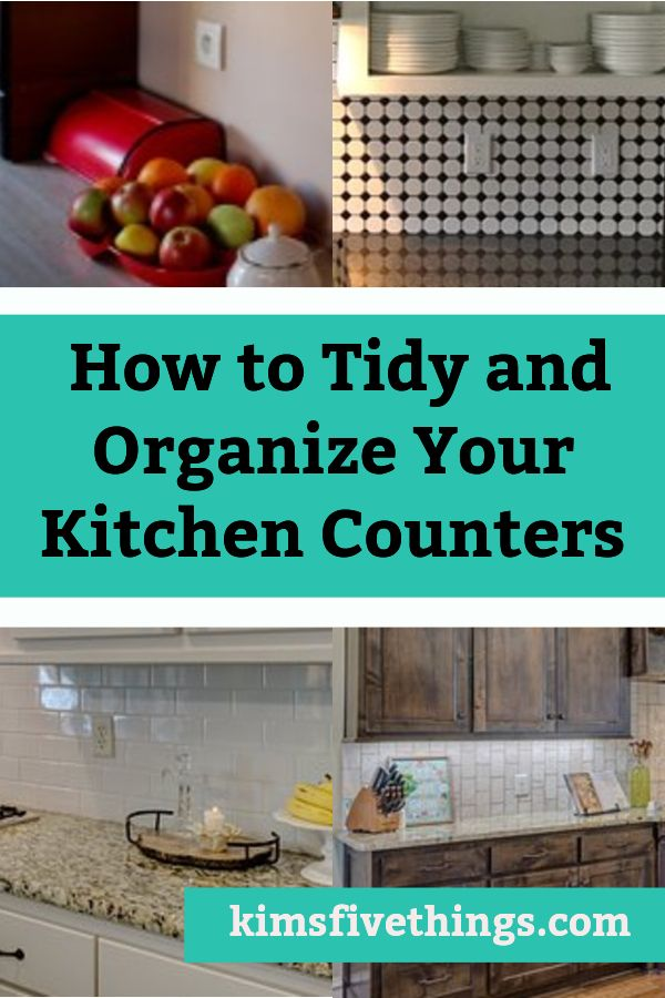 When your kitchen is cluttered and messy, the first place to start is to clear off and organize your kitchen counters. Deal…   *** Kitchen Organization   Pinte…