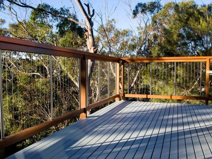 Steel and Timber Deck Railing