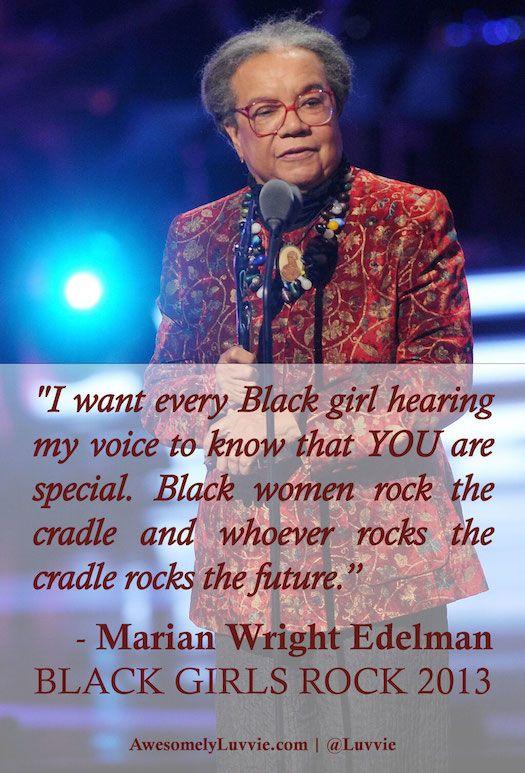Marian Wright Edelman of the Children's Defense Fund on #BLACKGIRLSROCK