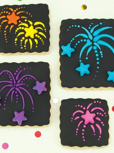 These Firework Cookies are a perfect way to celebrate the Festival of Lights!