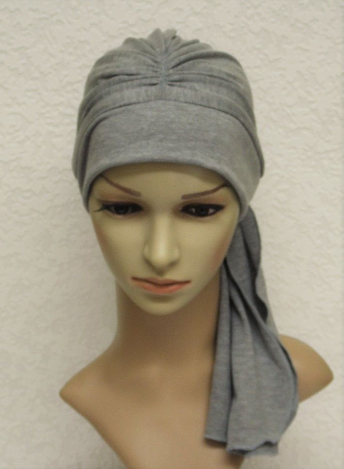 Chemo head wear, bad hair day scarf, turban with ties, chemo turban, chemo hat, full head covering, chemo cap, made from viscose jersey by accessoriesbyrita on Etsy
