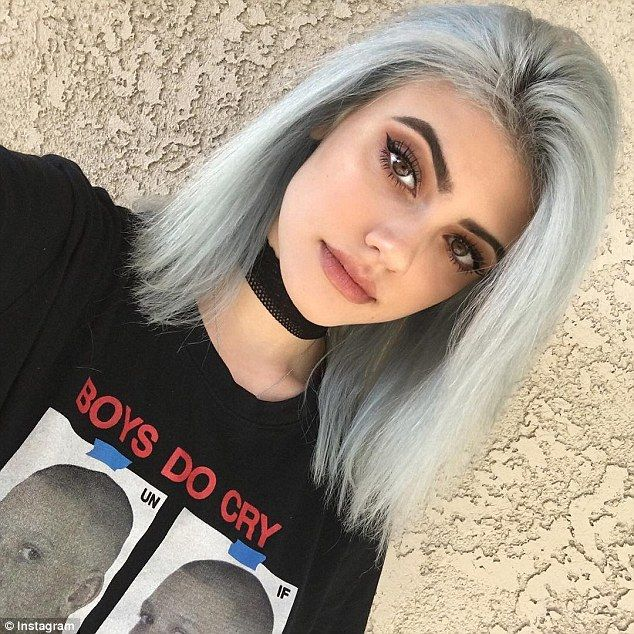 Similarities: Instagram star Kelsey Calemine, from Los Angeles, pictured, has been hailed the ultimate combination of Lucy Hale, 26, and Kylie Jenner, 18