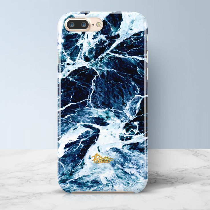 SURF | iPhone Marble Case Available for iPhone 7/7 Plus, iPhone 6/6s, 6/6s plus. Free shipping worldwide. #blue #case #marble #palettoshop