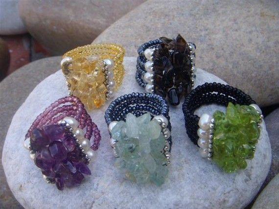 Bague perle améthyste en argent Sterling par AlissaBcustomjewelry