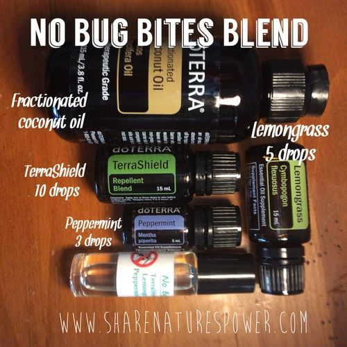 How to create an easy doTERRA essential oils roller bottle blend to keep mosquitoes away (No Bug Bites Blend) www.sharenaturespower.com