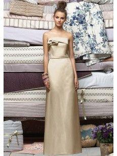 Sans Bretelles Plis Floor-length Column Satin Robes De Demoiselle D\'Honneur