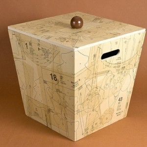 A rather large gift box covered in patte...