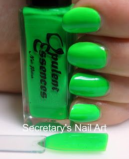 Secretary`s Nail Art: Opulent Essences - Taste The Rainbow Collection - Lime