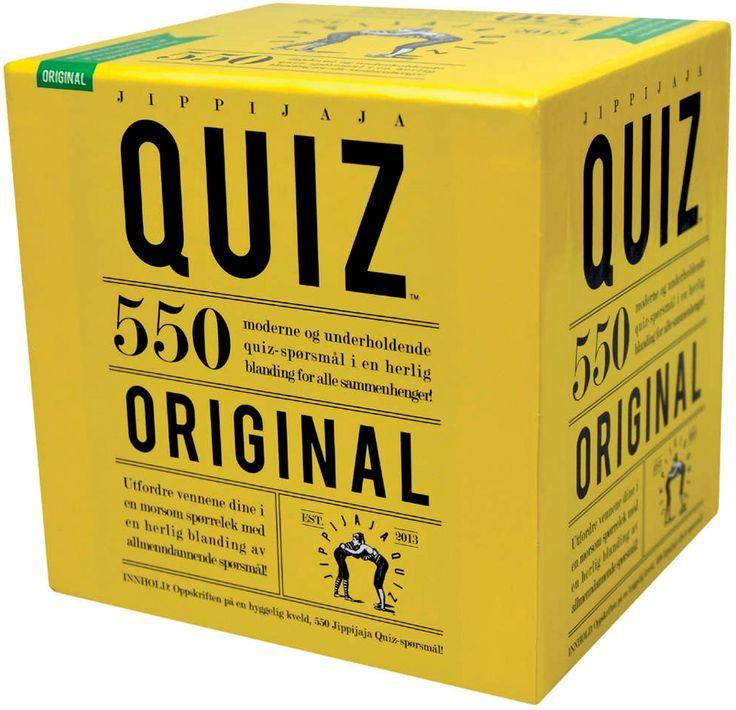 Jippijaja Quiz Original Kortspill