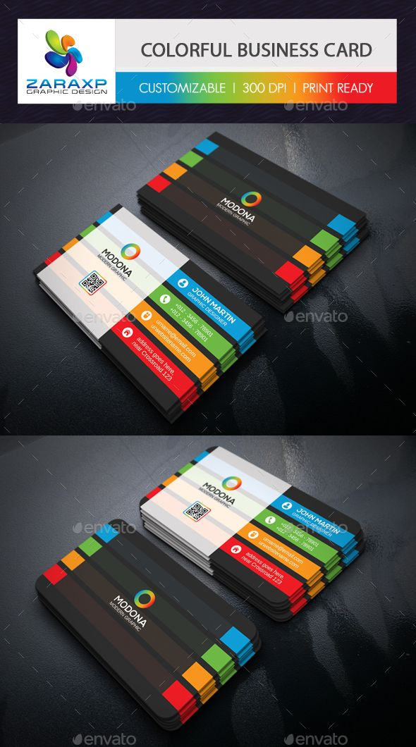 Colorful Business Card — Photoshop PSD #orange #clean • Available here → https://graphicriver.net/item/colorful-business-card/14156981?ref=pxcr