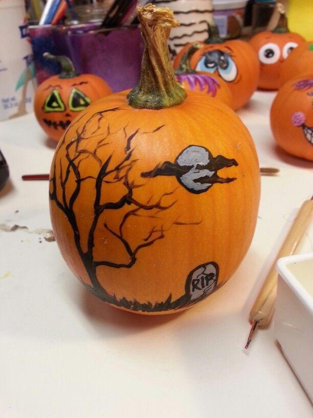 Painted Pumpkin Halloween Pinterest
