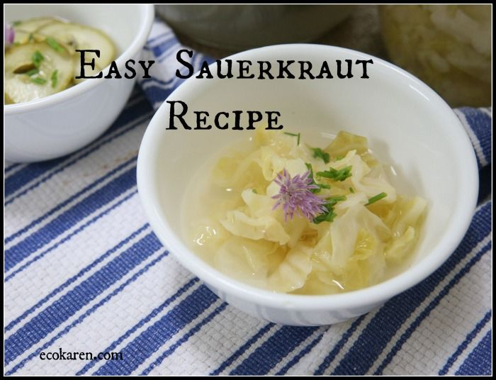 easy sauerkraut recipe by ecokaren