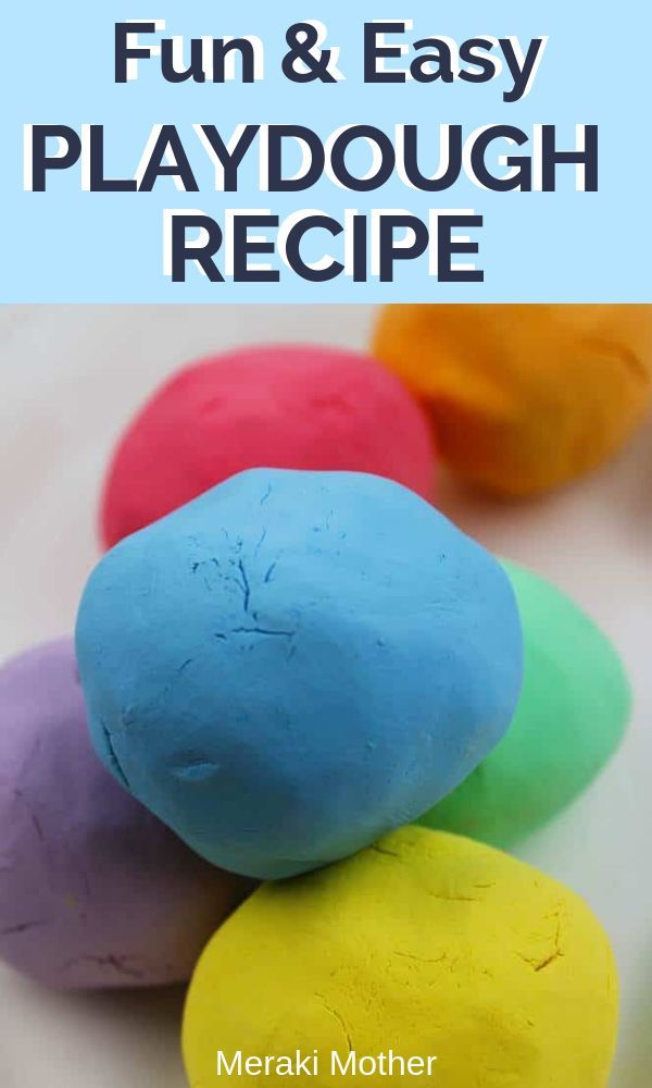 Easiest Playdough Without Cream Of Tartar 3 Simple Ingredients