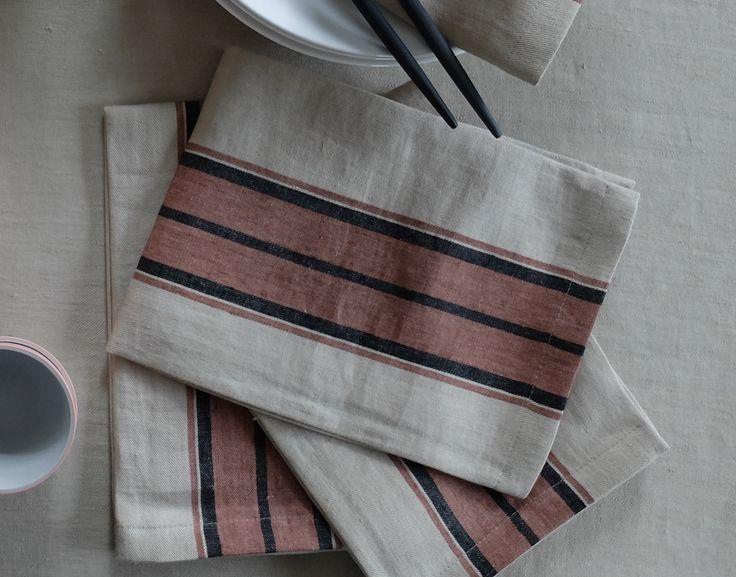 Libeco Linen Napkins HOME COLLECTION Canvas Cloth and Bowl