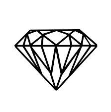 diamond tattoo outline - Google Search                                                                                                                                                                                 More