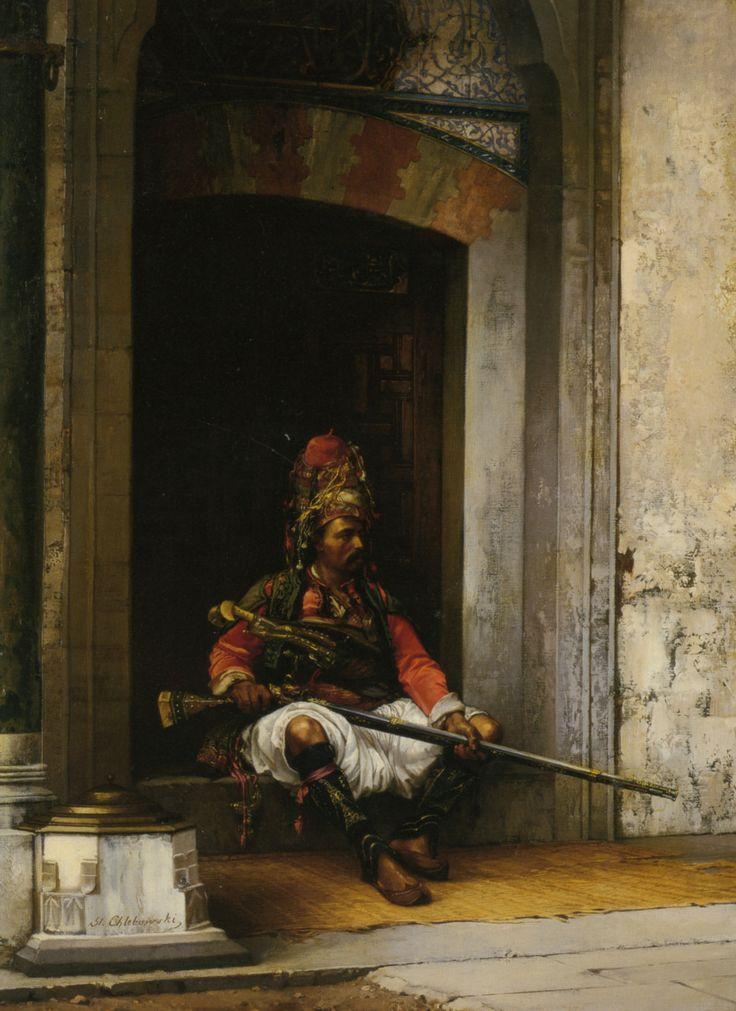 """A Seated Bashi-Bazouk"" by Stanislaus Von Chlebowski"