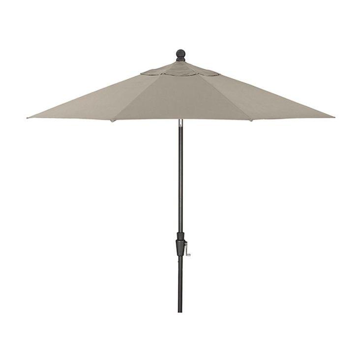 9u0027 Stone Sunbrella Umbrella With Tilt Black Frame