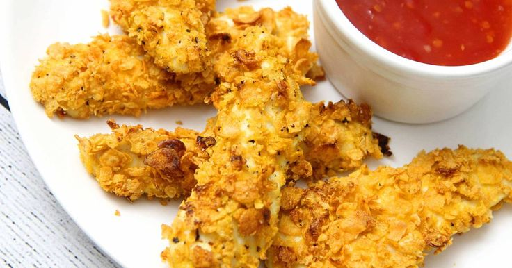 Mézes-mustáros csirkemell kukoricapehely bundában - MINDENMENTES