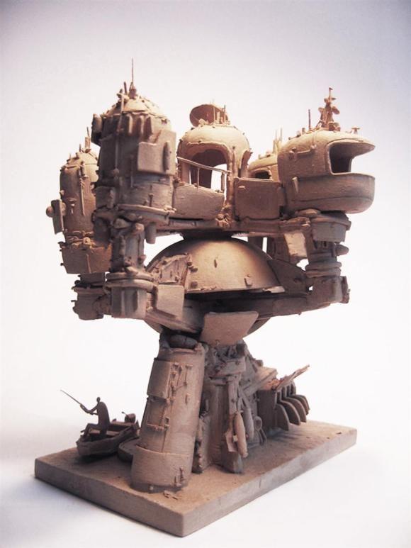 Esculturas futurísticas em cerâmica 2